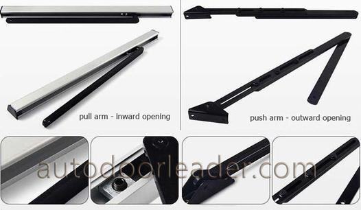 automatic swing door arm