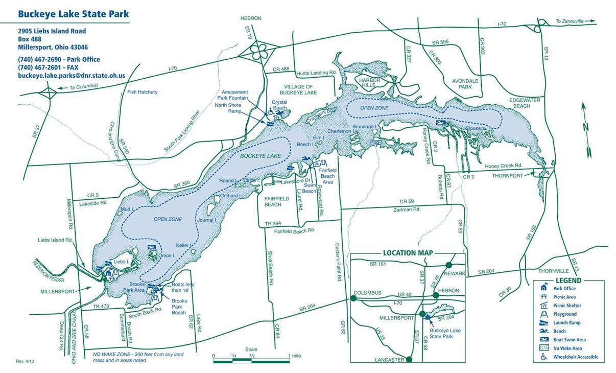 buckeye lake ohio map Buckeye Lake Map Buckeye Lake Historical Society buckeye lake ohio map
