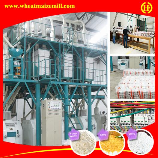 running 50 ton per day maize milling machinery for Kenya