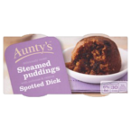 Aunty's Spotted Dick Steamed Puddings