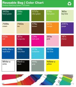 fabric color chart for wine bags