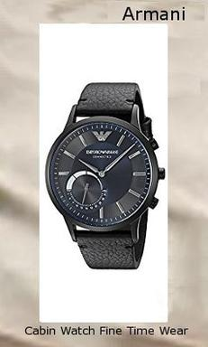 Watch Information Brand, Seller, or Collection Name EMPORIO ARMANI Model number ART3004 Part Number ART3004 Model Year 2016 Item Shape Round Dial window material type Mineral Display Type Analog Clasp Buckle Case material Stainless steel Case diameter 43 millimeters Case Thickness 13 millimeters Band Material Leather Band length Men's Standard Band width 22 millimeters Band Color Black Dial color Blue Bezel material Stainless steel Bezel function Stationary Item weight 1.3 Pounds Movement Quartz Water resistant depth 100 Feet,armani