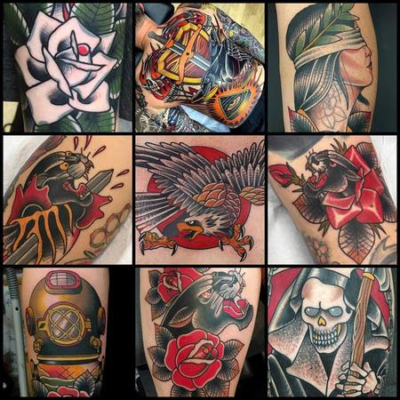 American Traditional Tattoos by Myke Chambers