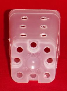 extra holes clear plastic orchid pot 2.25 inch square small