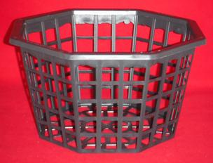 Ultimate Orchid Basket 10 inch largest tropical nursery hanging flat bottomed mesh plastic net