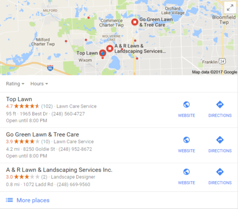 Lawn care-walled lake-customer reviews