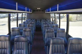 Inside Coach Bus