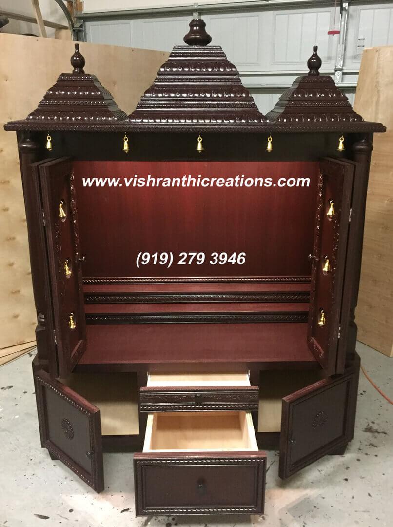 Pooja Mandir - Vishranthi Creations USA
