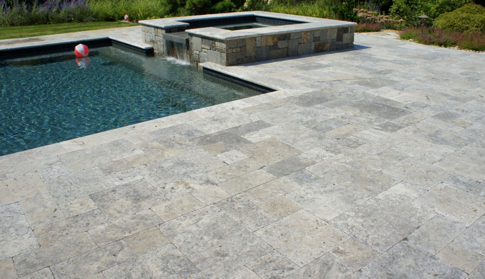 ma travertine pool patio pavers, pool coping for sale