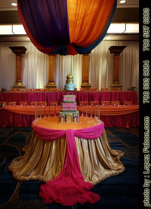 BOLLYWOOD PARTY QUINCEANERA MIAMI CAKE DECORATION