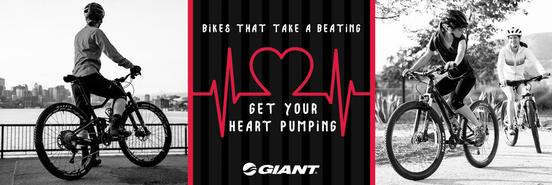 Get your heart pumping with Giant Bicycles