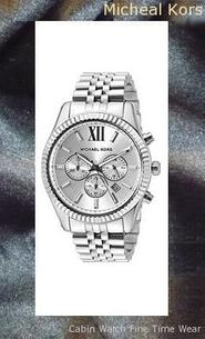 Michael Kors Men's Silvertone Lexington Watch MK8405,michael kors watch