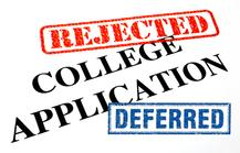 College Application Rejected Dr Paul Lowe
