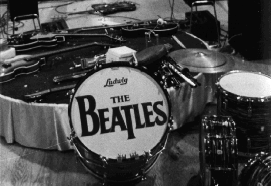 Ringo During The Beatles First Concert On American Soil At Washington Coliseum In DC February 11 1964 This Is Drop T Head Number 2
