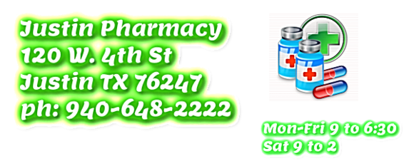 justin pharmacy, justin tx 76247