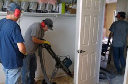 DustBusters Flooring Removal team in action