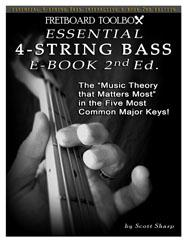 Essential 4-String Bass Interactive E-Book Fretboard Toolbox