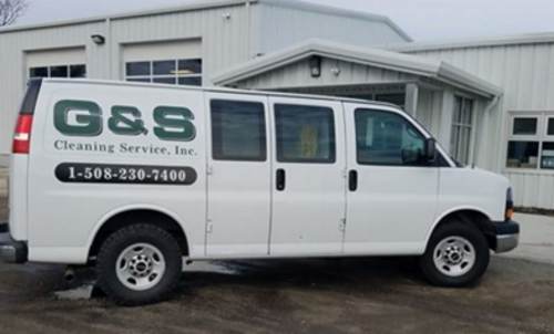 G and S Cleaning work Van.