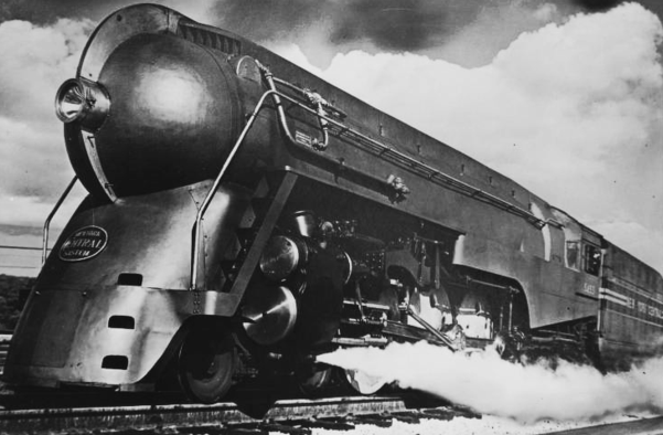 A 20th Century Limited Hudson locomotive circa 1938