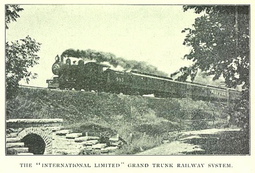 The International Limited operating on the Grand Trunk Railway, circa 1909.