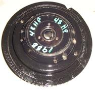 583012, 583911, 583696 Used flywheel for a 1988 48 hp Johnson or Evinrude outboard motor. OEM #583012, #583911, #583696