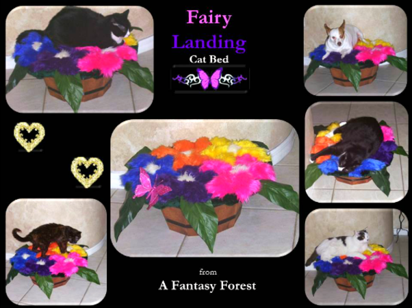 Fairy Landing Cat Bed