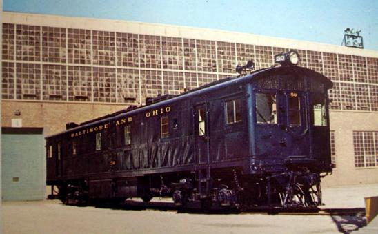 Baltimore & Ohio #50 in 1972 at the EMD plant for its 50 year celebration.