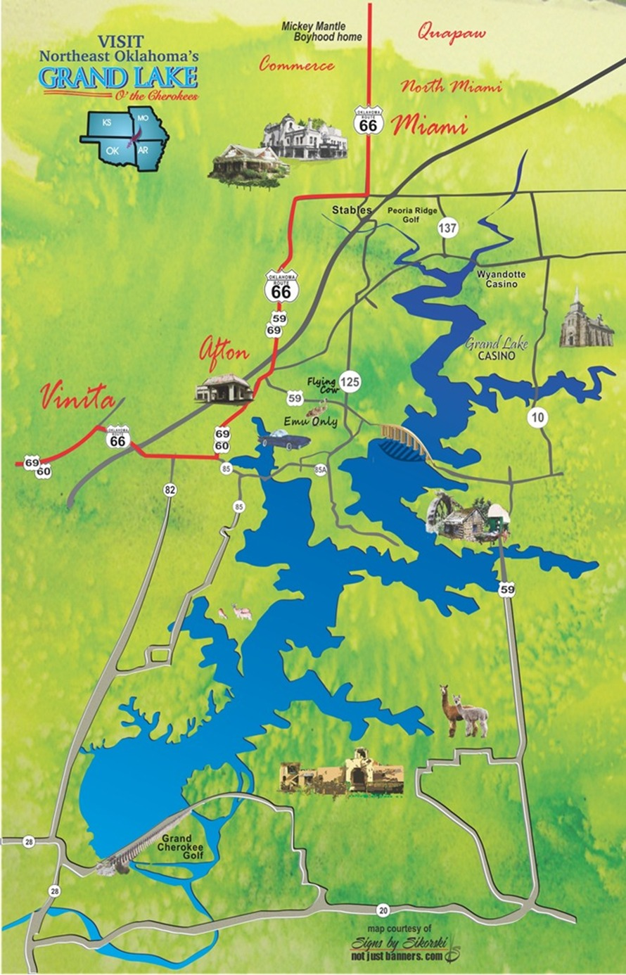 Well-liked Grand Lake OK Attractions Map VY19