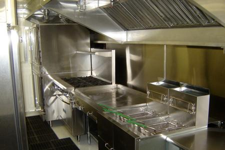 Mobile Kitchen for Rent: Freedom 46' Interior View