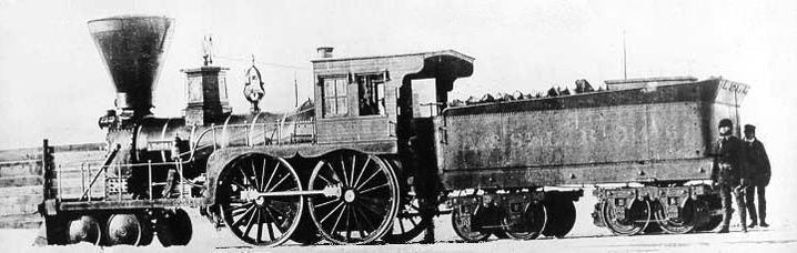 Atlantic & St. Lawrence Railroad 4-4-0 locomotive Coos at Longueuil, Quebec, circa 1856.