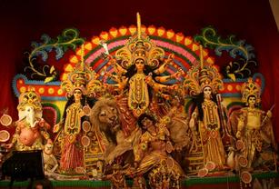 Maa Durga And her family Adorns The City