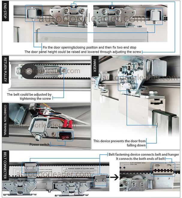 Automatic Sliding Door Bi Parting Glass Door Electric