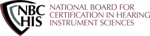 Logo for the National Board for Certification in Hearing Instrument Sciences.