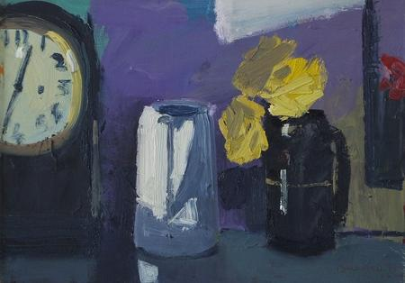 Yellow Roses with Clock by Brian Ballard RUA
