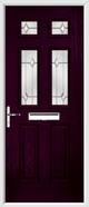 2 Panel 4 Square Composite Door regal opal glass