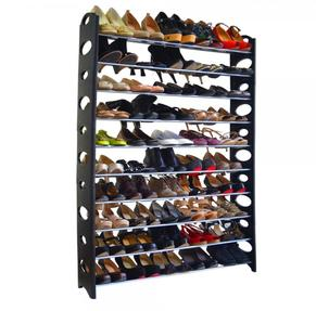 DIY 10-Tier Stackable Shoe Rack Storage Shelves Holds
