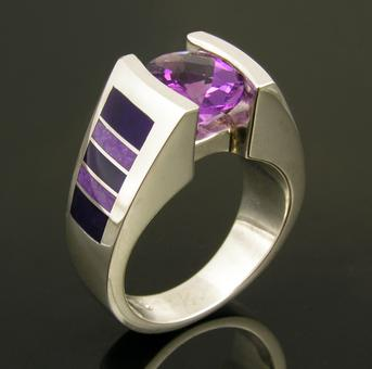 Sugilite wedding ring by Hileman