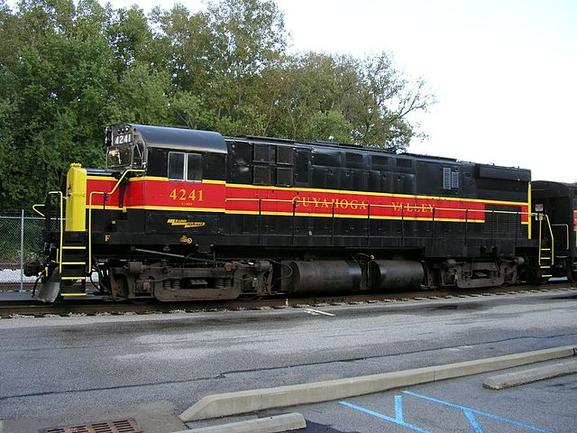 Cuyahoga Valley Scenic Railroad No. 4241, an MLW built C-424, identical to the ALCO built models.