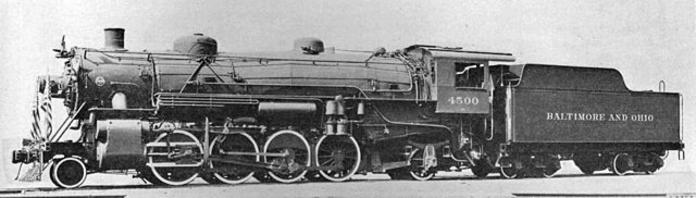 B&O USRA Light Mikado No. 4500.