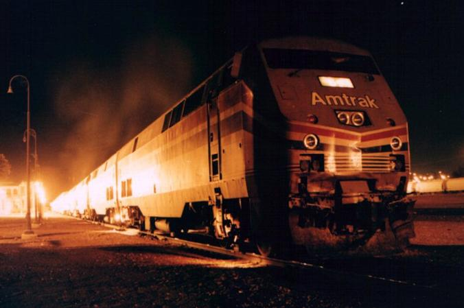 The Southwest Chief at Barstow in 1999.