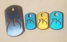 Rustick Knives dogtags