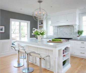 White french kitchen cabinets Huntington Beach