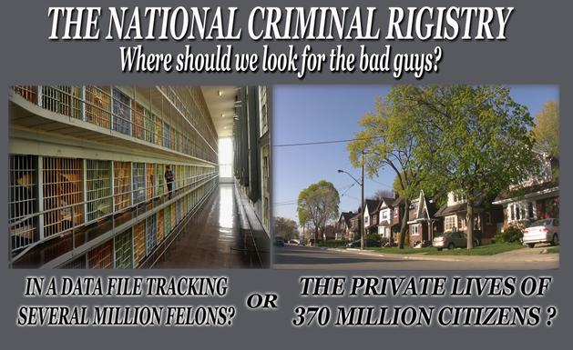 The National Criminal Registery - an alternative to universal background checks.