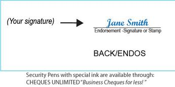 Image How to endorse or sign a cheque -by CHEQUES UNLIMITED
