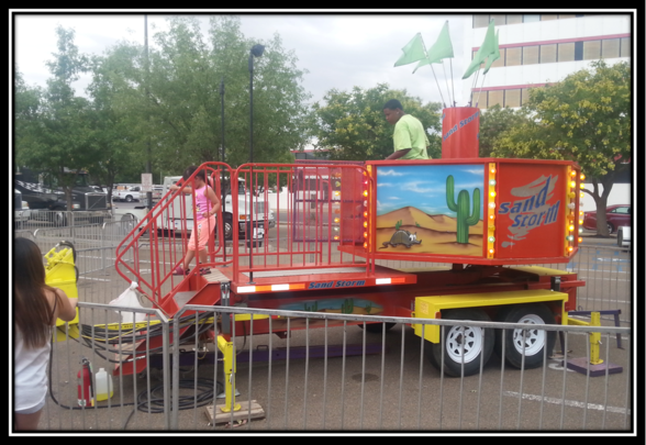 sandstorm carnival ride for sale on site