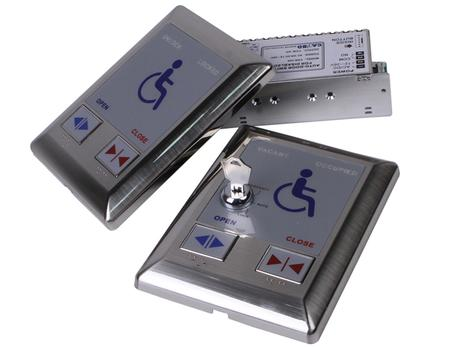 Automatic door toilet switch for disabled person