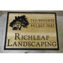 Richleaf Landscaping sign