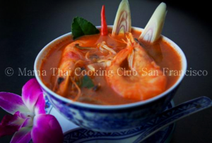 Tom Yum soup spicy and sour soup with shrimp