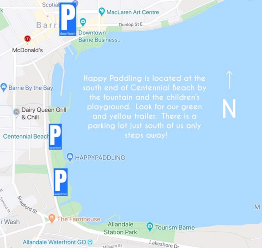 Our location and parking maps