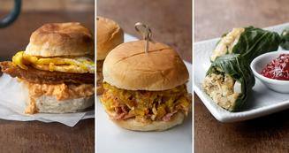thanksgiving day leftovers sandwiches